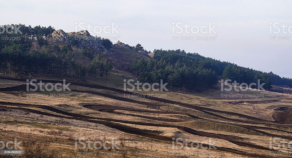Mountains and hills royalty-free stock photo