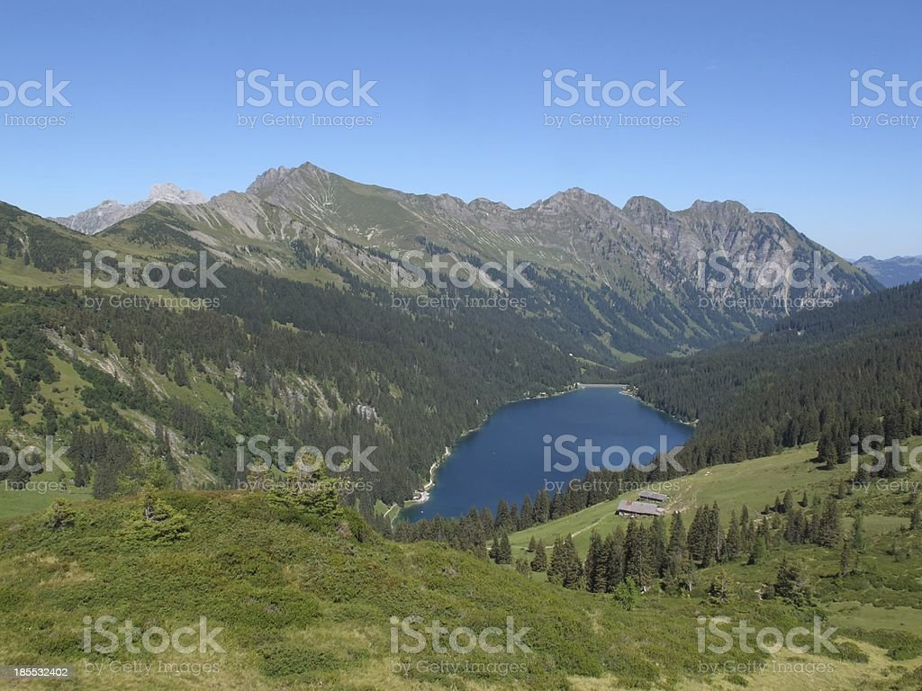 Mountains and lake Arnensee royalty-free stock photo