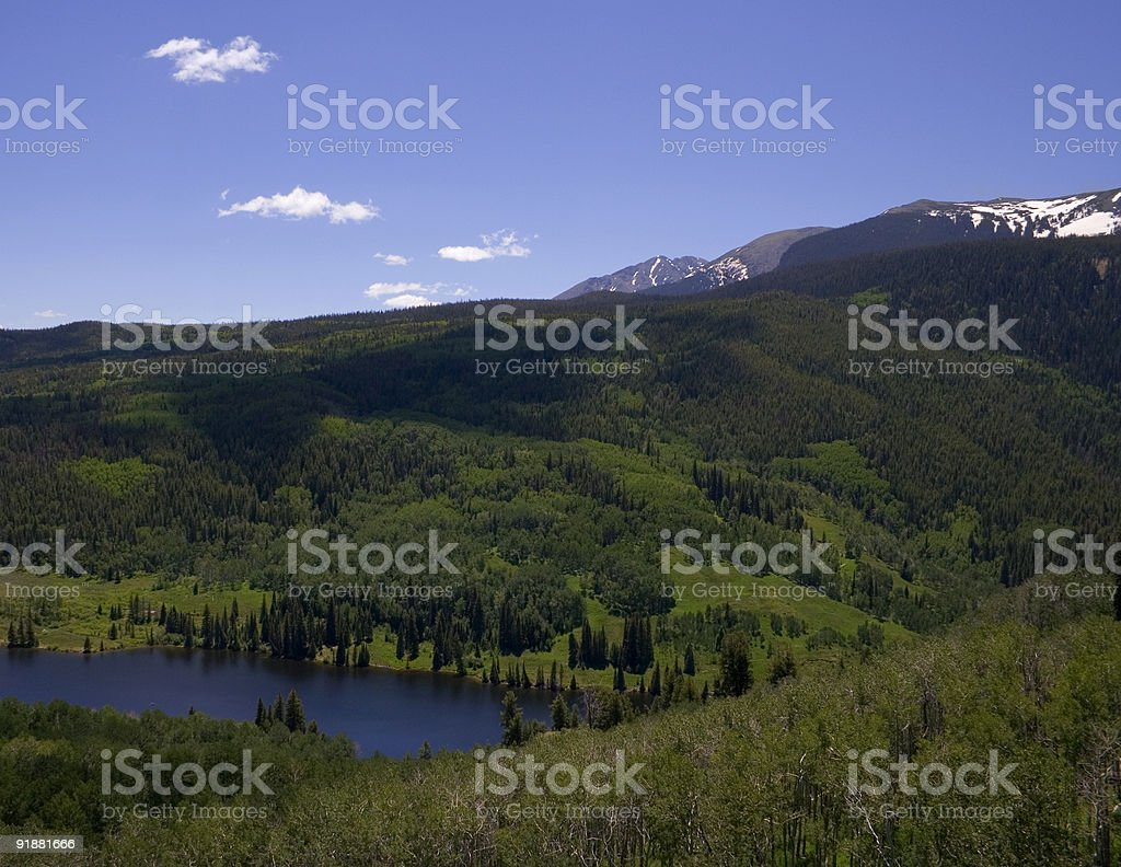 Mountains and Lake stock photo