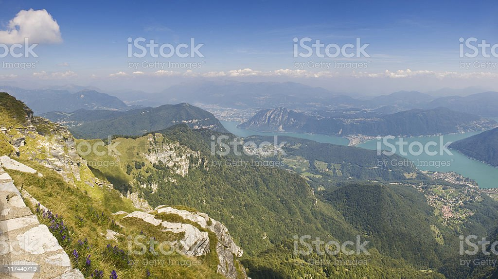 Mountains and lakes. royalty-free stock photo