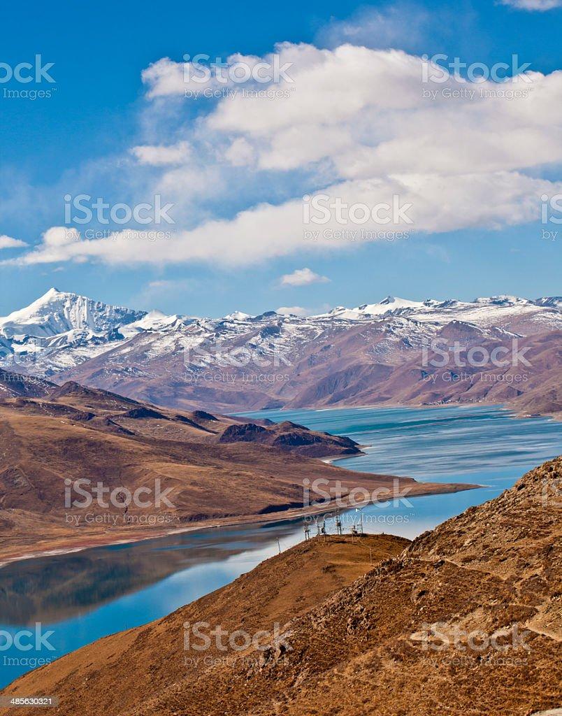 Mountains and lakes stock photo