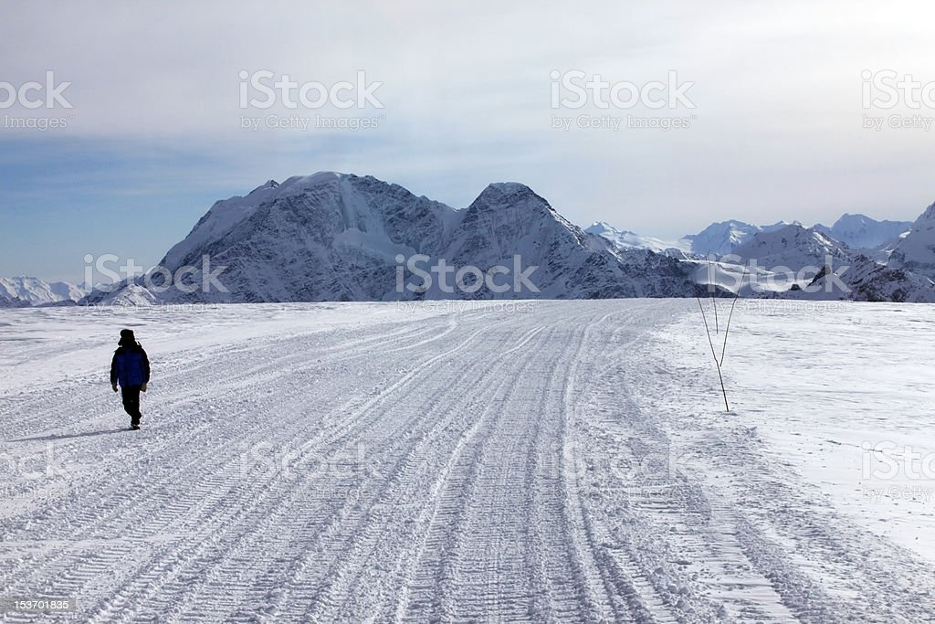 Mountains and man royalty-free stock photo