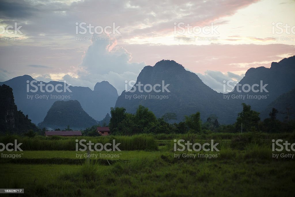 Mountains and Meadows stock photo