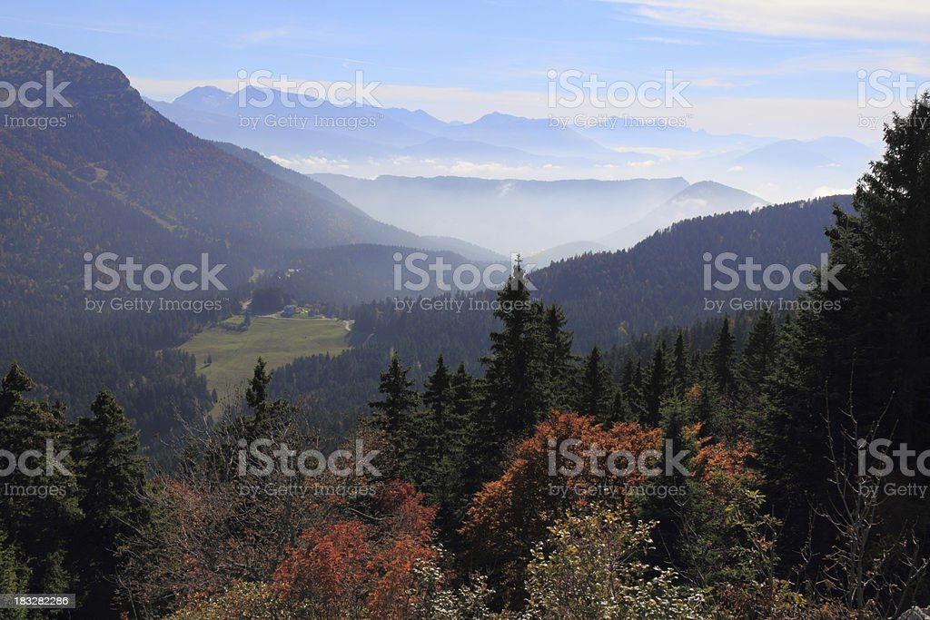 Mountains  and Mist stock photo