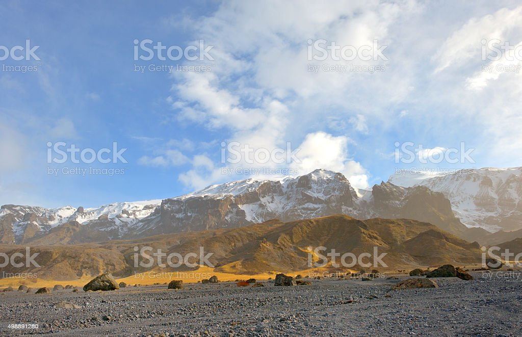 mountains and rocks in Iceland stock photo