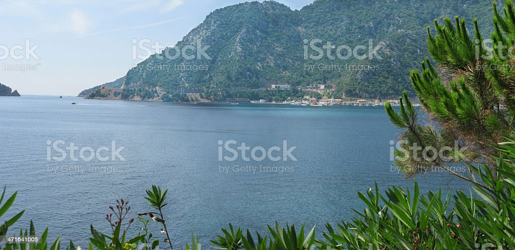 mountains and sea landscape royalty-free stock photo