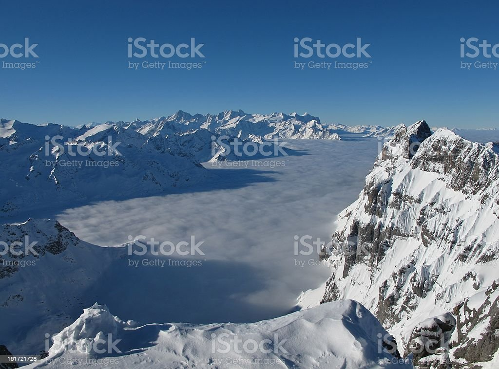 Mountains and sea of fog royalty-free stock photo