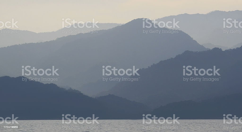 Mountains and Sea royalty-free stock photo