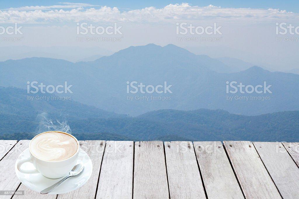 Mountains and Skyline stock photo