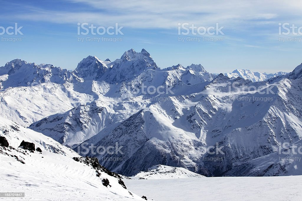 Mountains and snow royalty-free stock photo