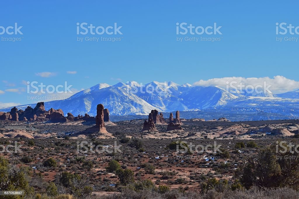 Mountains and Spires stock photo