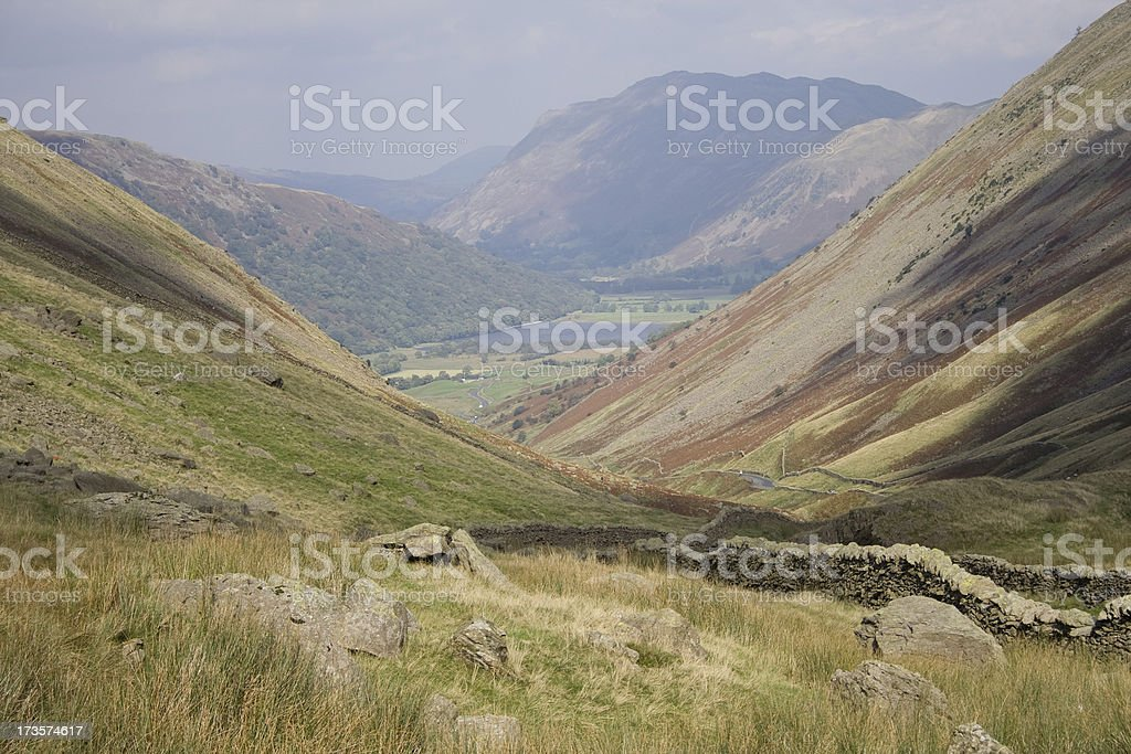 Mountains and stone walls royalty-free stock photo