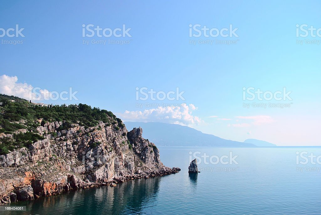 Mountains and the sea in Crimea royalty-free stock photo