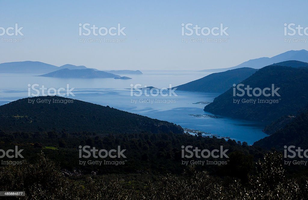 mountains and the sea royalty-free stock photo