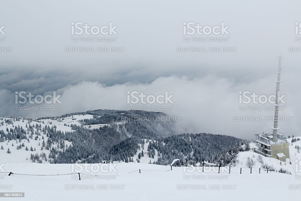 Mountains and valley. stock photo