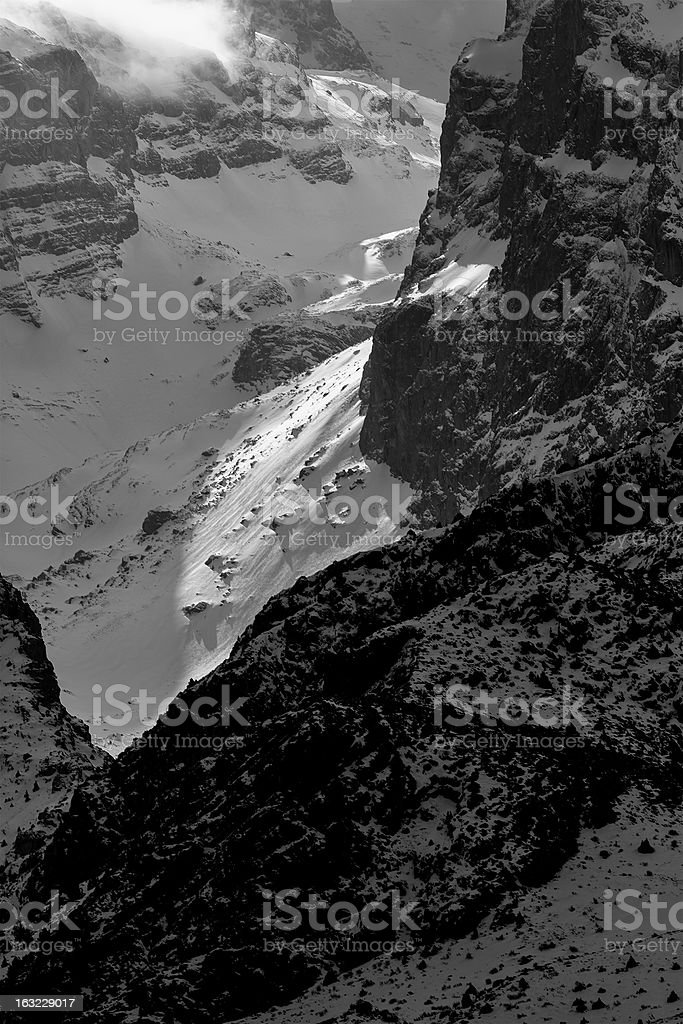 Mountains and Valleys in Aladaglar royalty-free stock photo