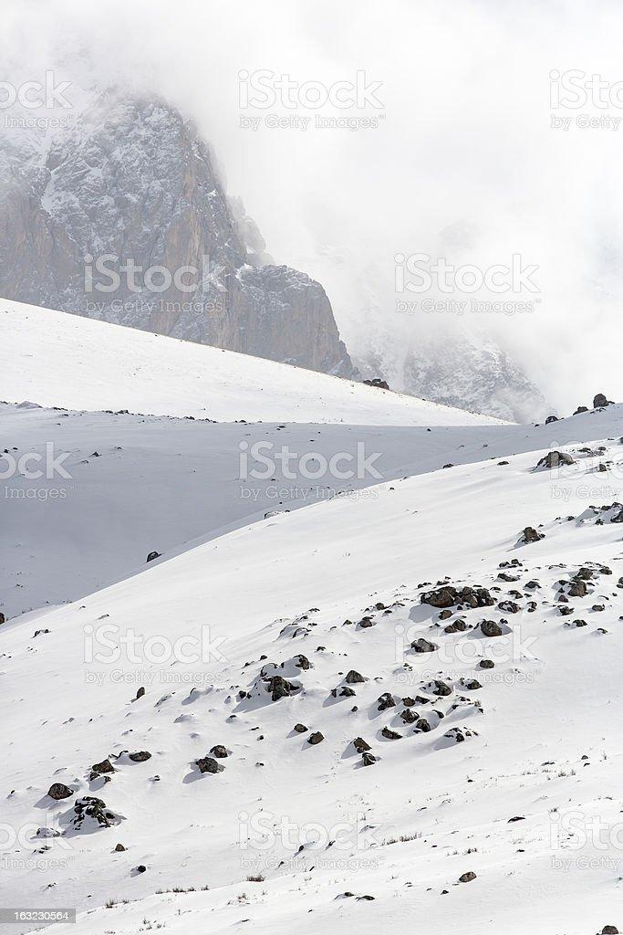 Mountains and Valleys in Aladaglar royalty-free stock photo