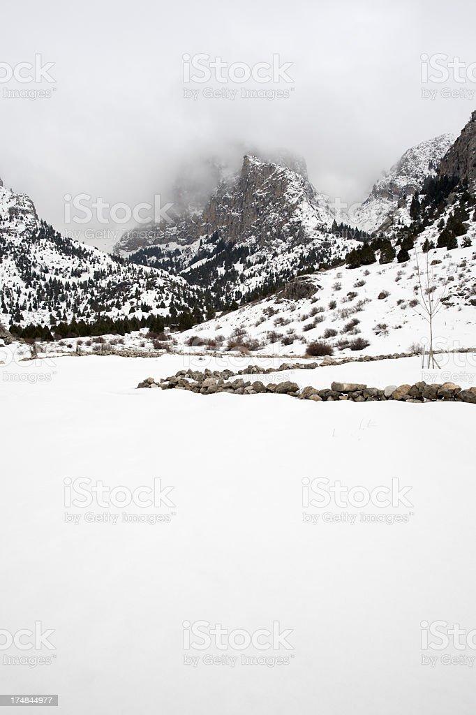Mountains and Valleys in Aladaglar stock photo