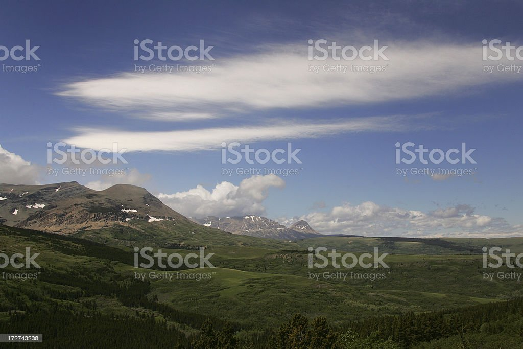 mountains and valleys royalty-free stock photo