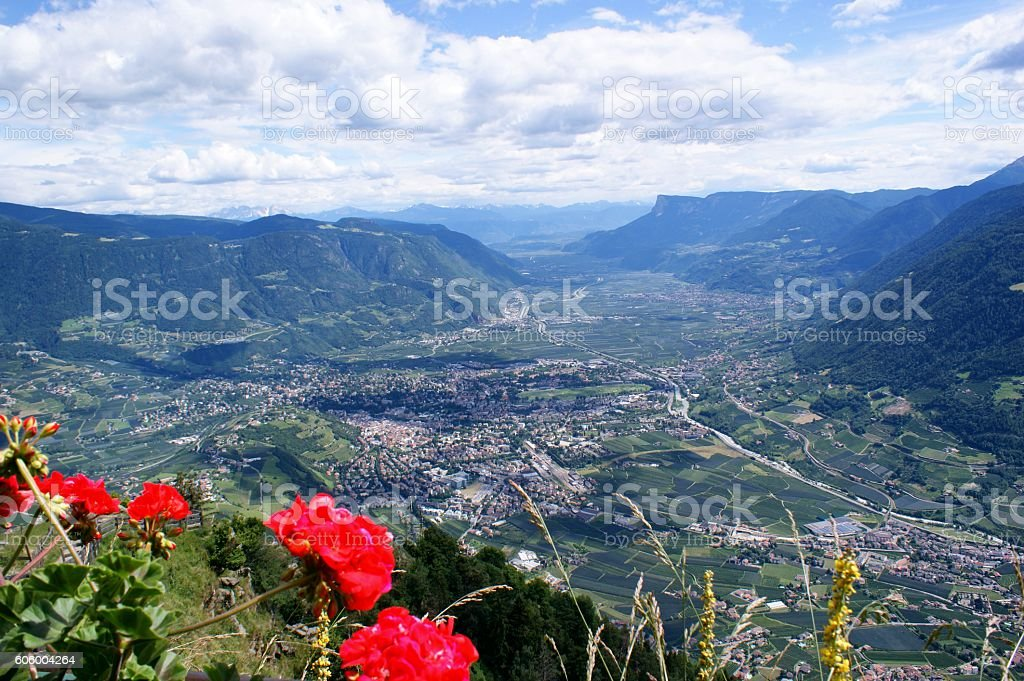 Mountains and valleys stock photo