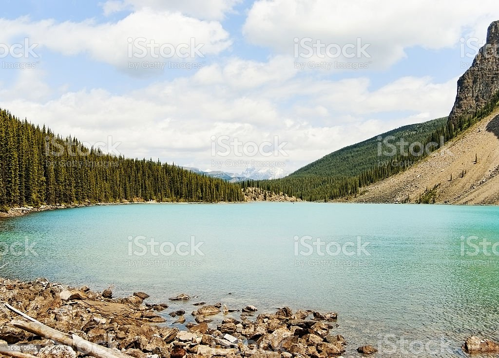 Mountains and Water stock photo