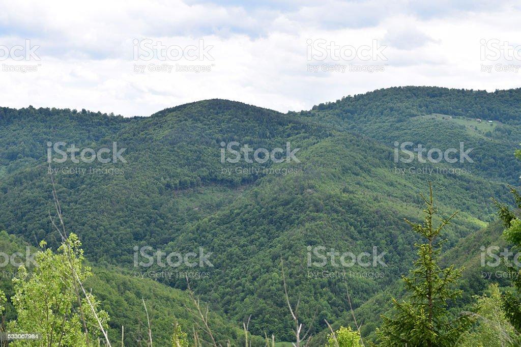 Mountains are all around stock photo