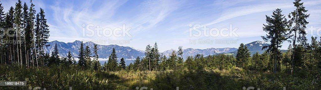 Mountains around Bad Goisern stock photo