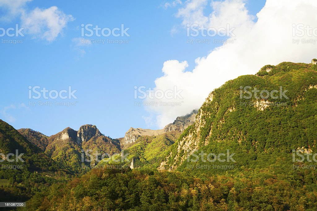 Mountains around Lake Lugano royalty-free stock photo
