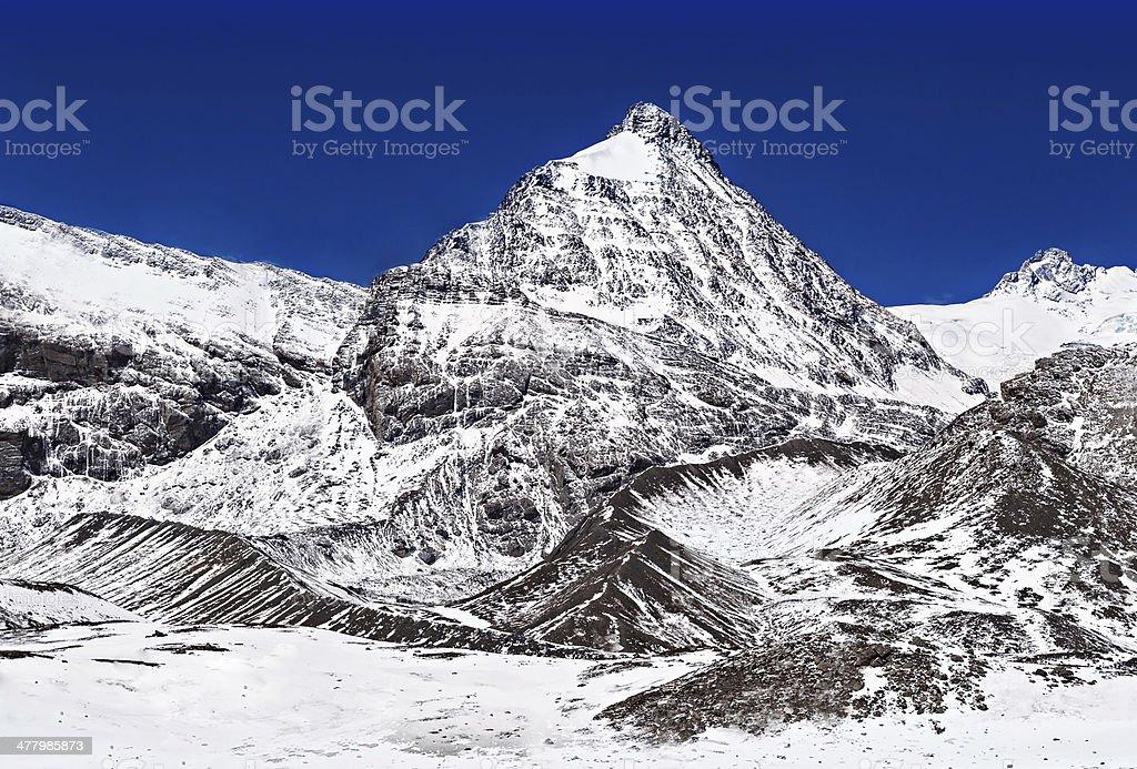 Mountains around Tilicho lake royalty-free stock photo