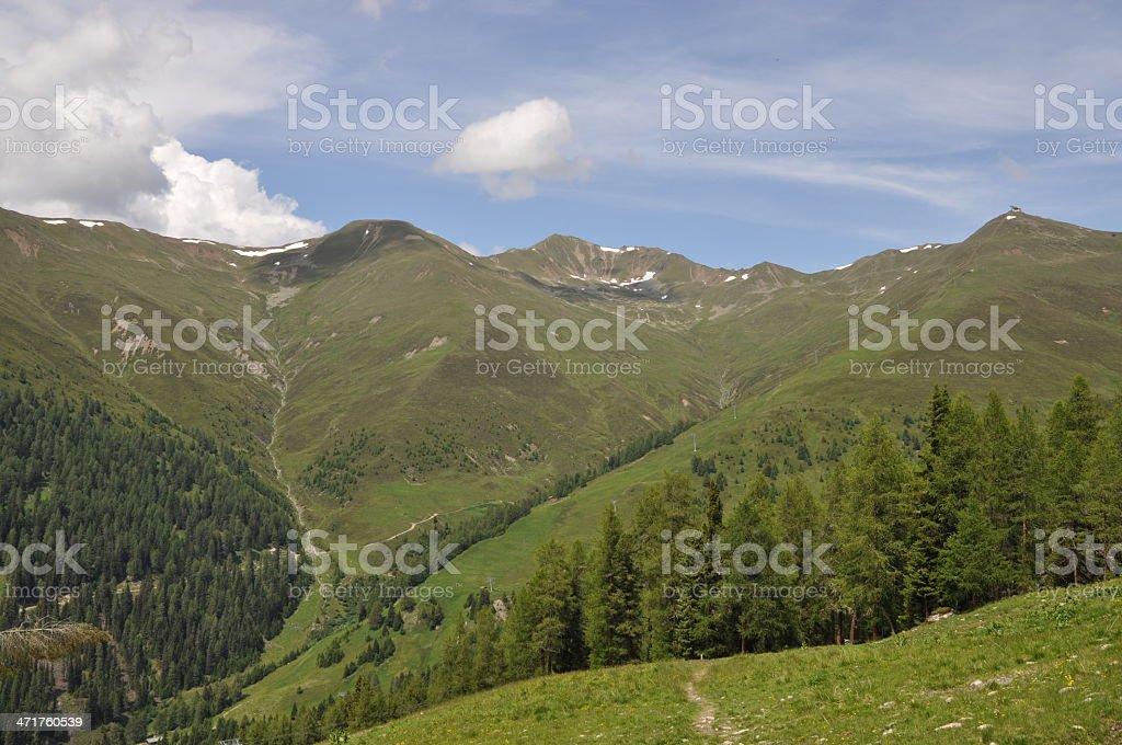 Mountains at Nauders, Austria stock photo