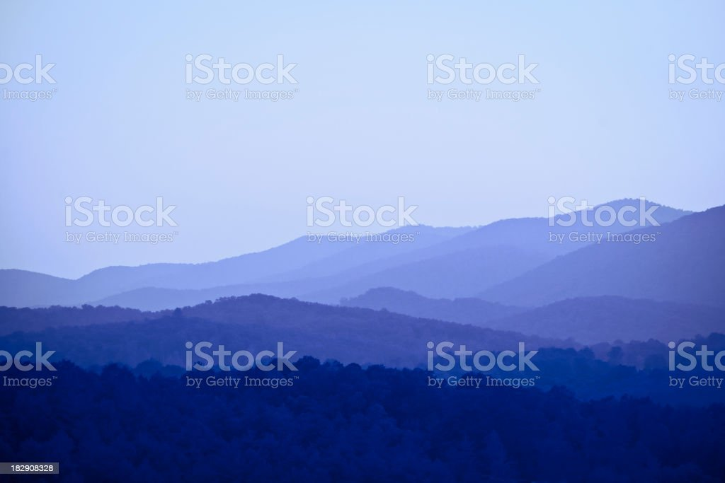 mountains - Blue Ridge, GA royalty-free stock photo