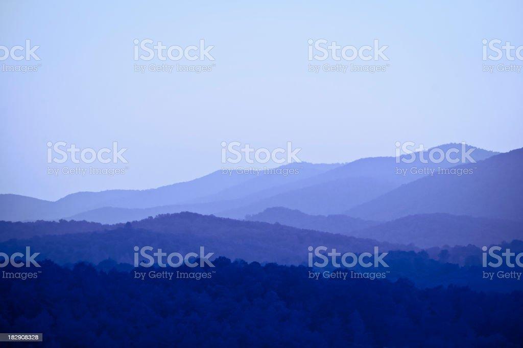mountains - Blue Ridge, GA stock photo