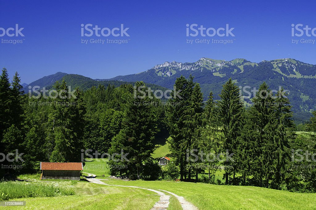 Mountains by Lenggries 1 royalty-free stock photo