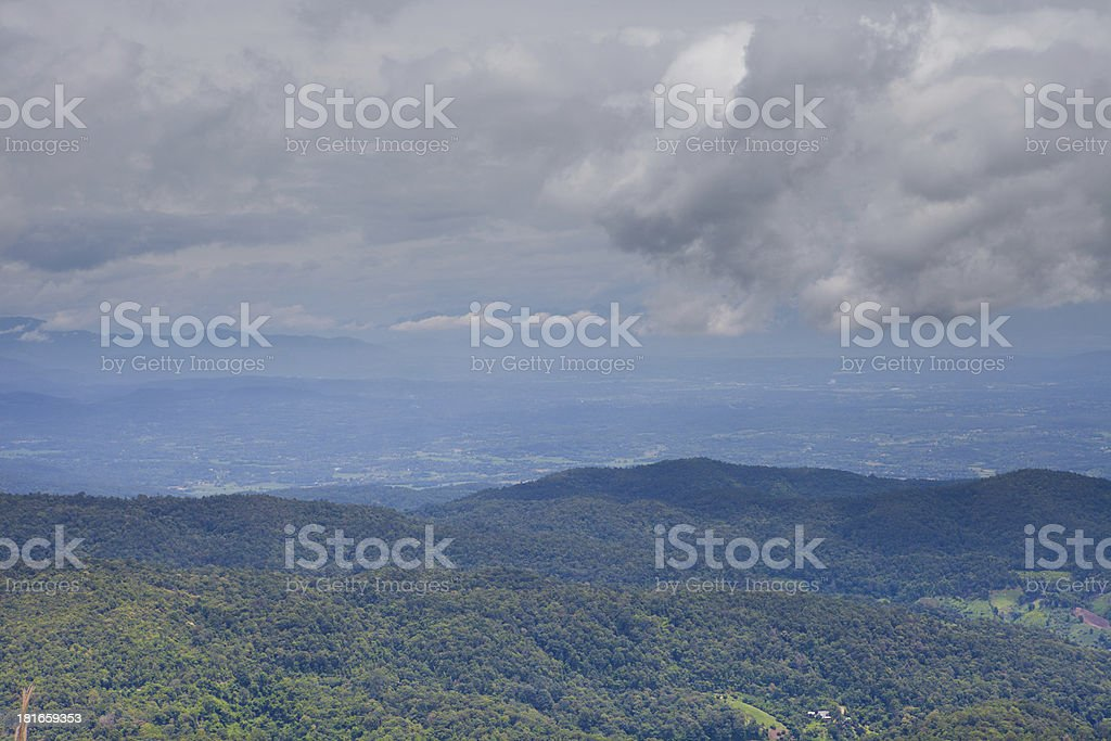 Mountains clouds. stock photo