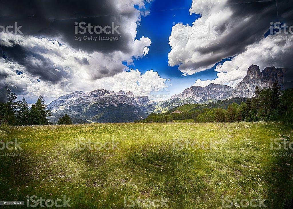 Mountains Dolomites stock photo