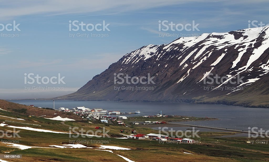 Mountains  fjord iin iceland at spring royalty-free stock photo