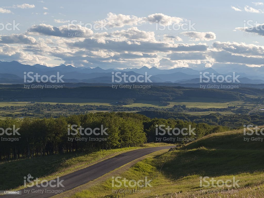 mountains foothills ranch land royalty-free stock photo