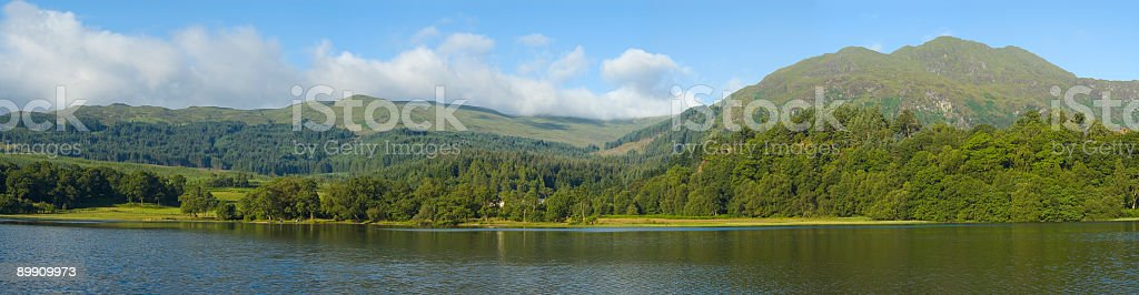 Mountains, forest, lake royalty-free stock photo
