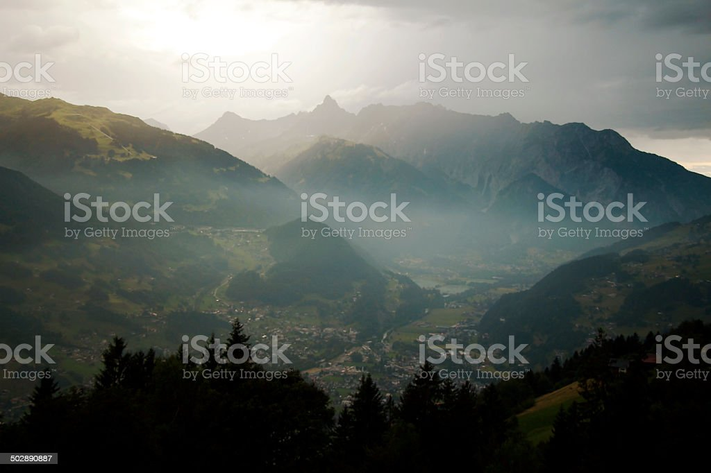 mountains forest stock photo