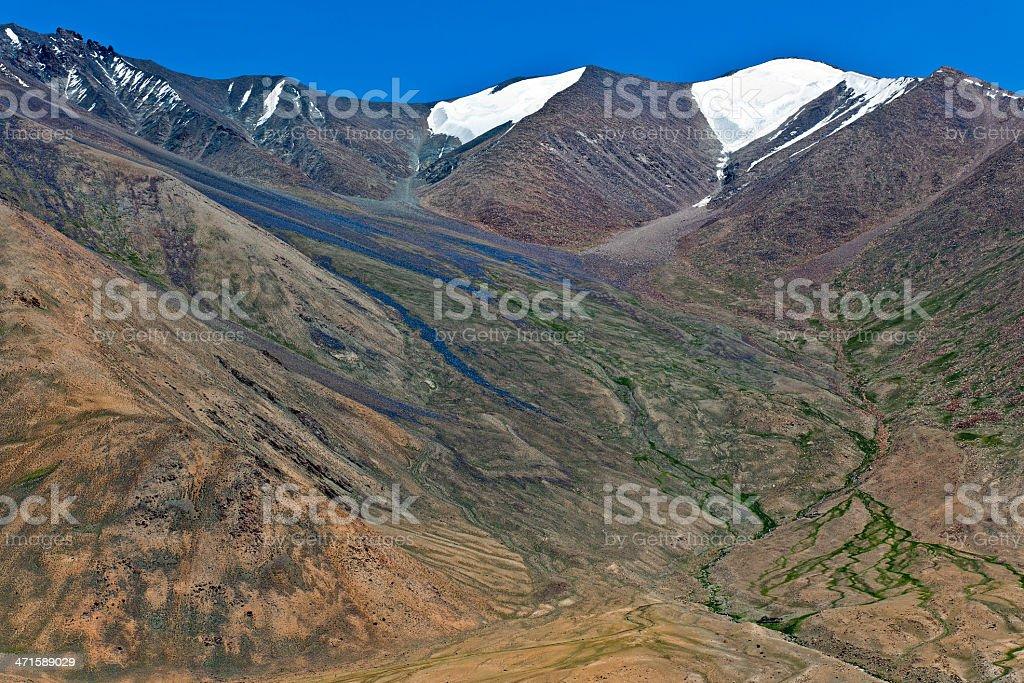 Mountains from Kardung La Ladakh Northern India royalty-free stock photo