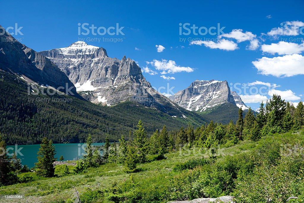 Mountains, Glacier National Park, Montana royalty-free stock photo