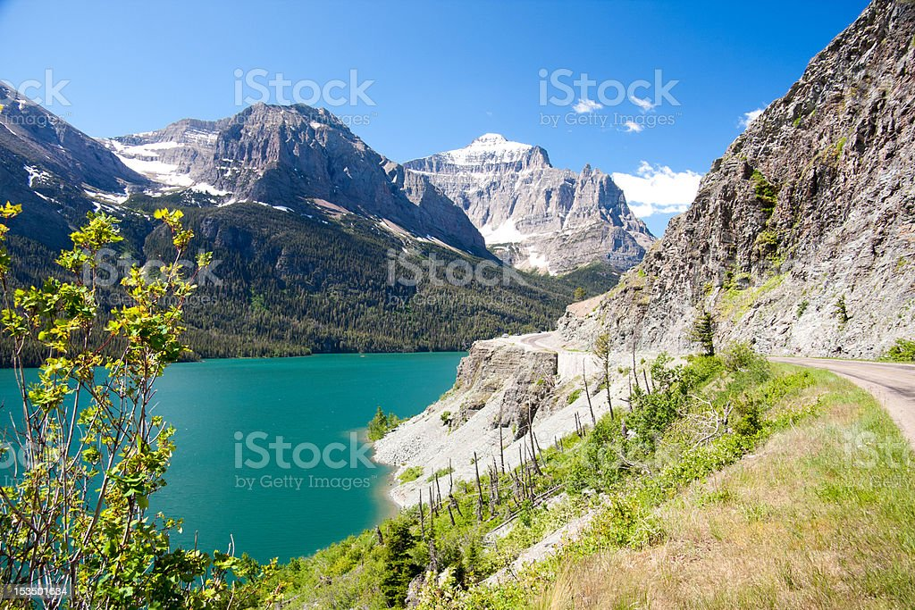Mountains, Glacier National Park, Montana stock photo