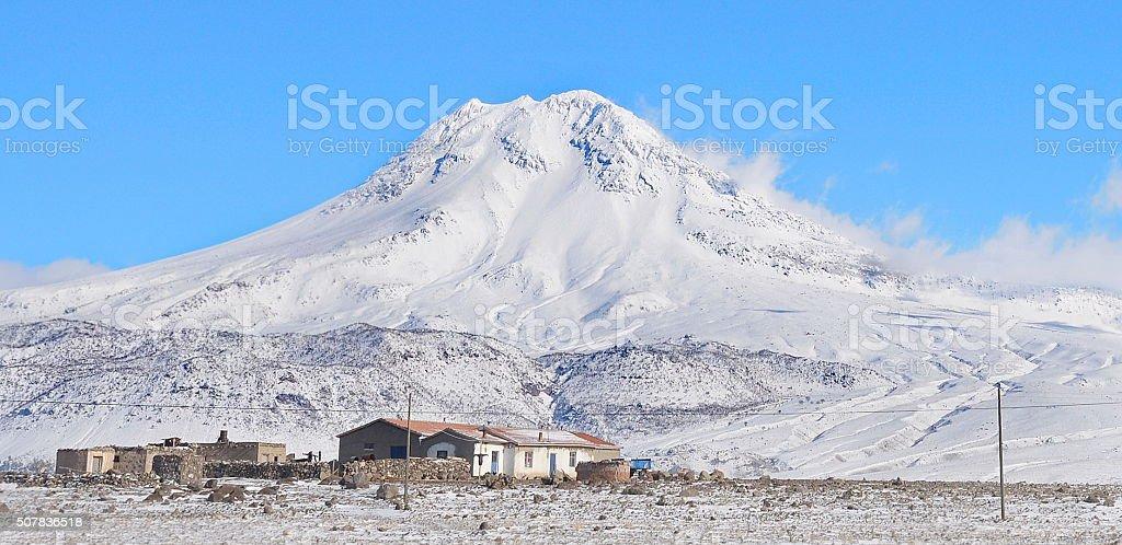 Mountains Hasan dagi Aksaray at Turkey stock photo