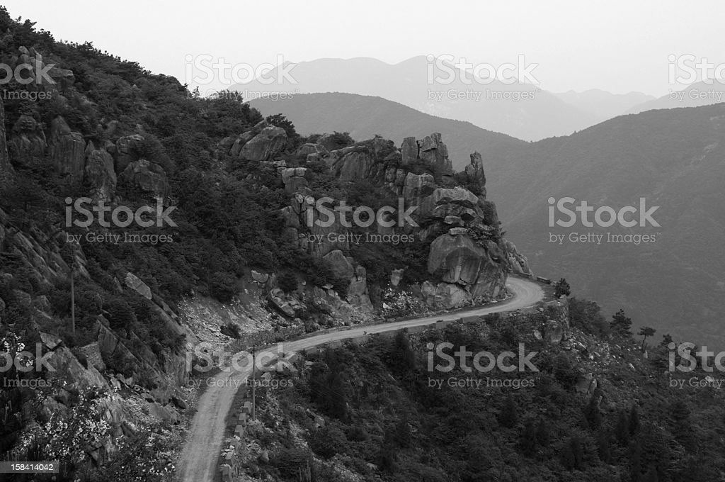 Mountains Highway royalty-free stock photo