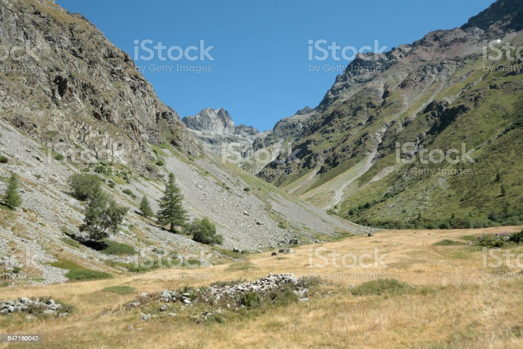 Mountains in Alps, France stock photo