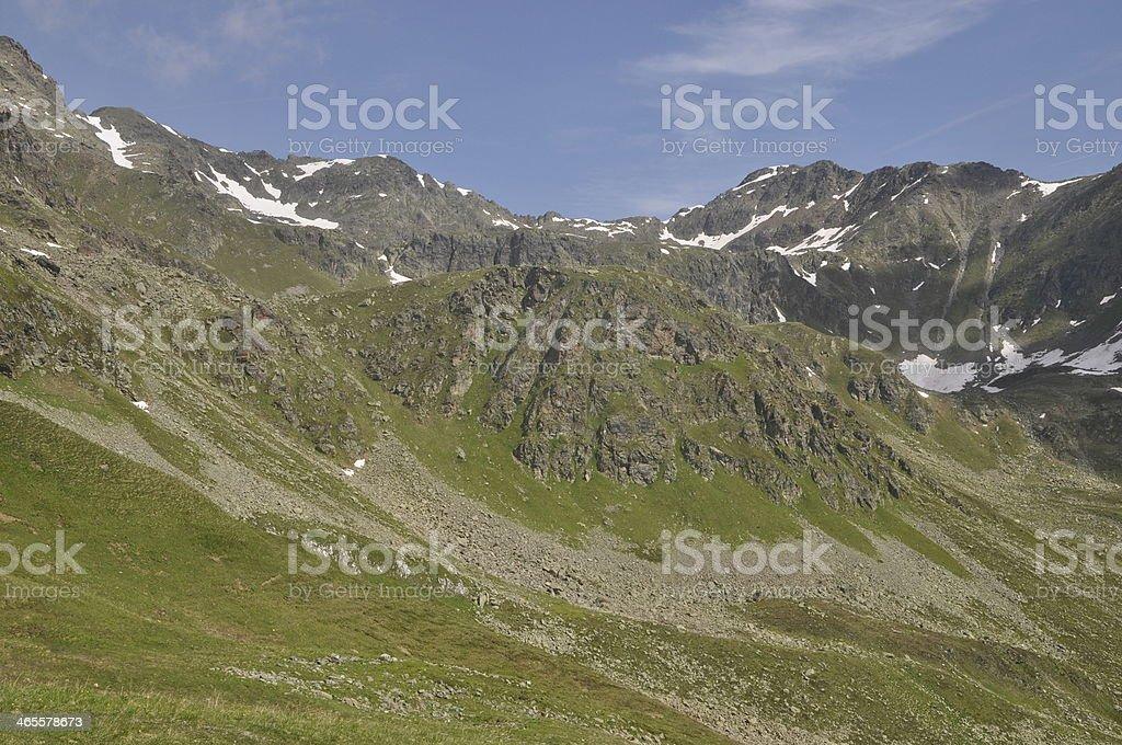 Mountains in Austria stock photo