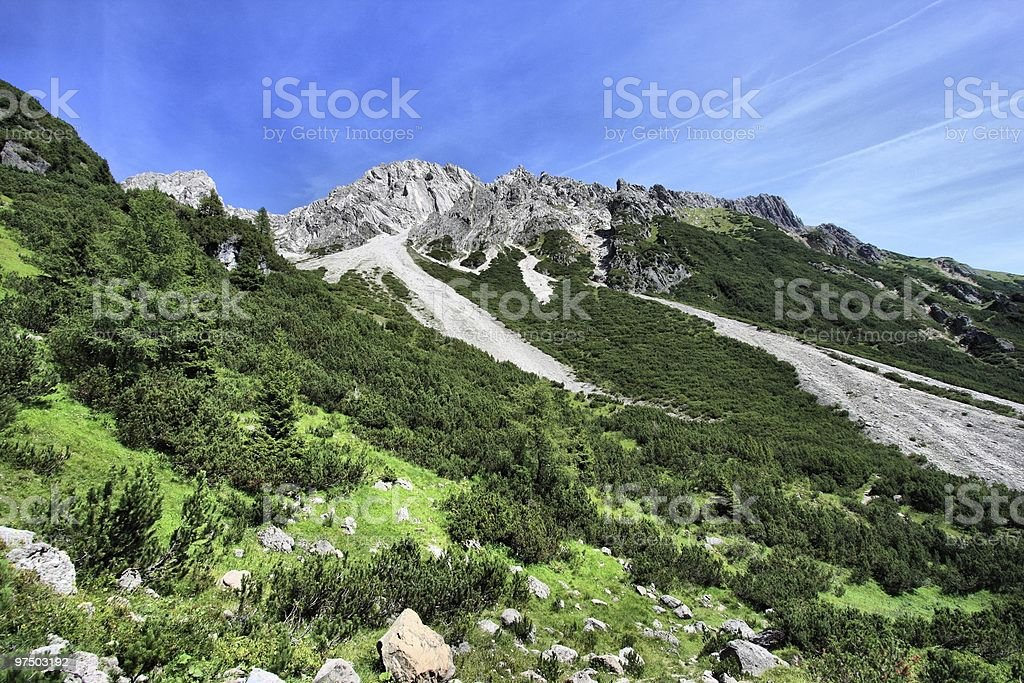 Mountains in Austria stock photo