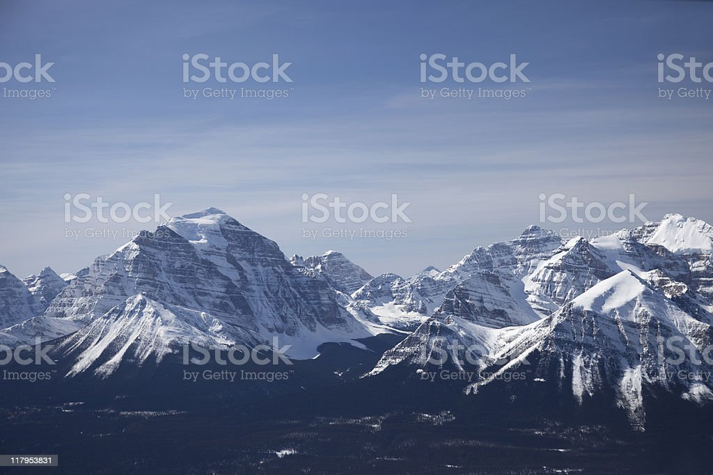 Mountains in Banff royalty-free stock photo