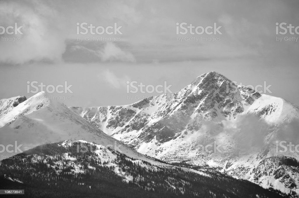 Mountains in Black and White stock photo