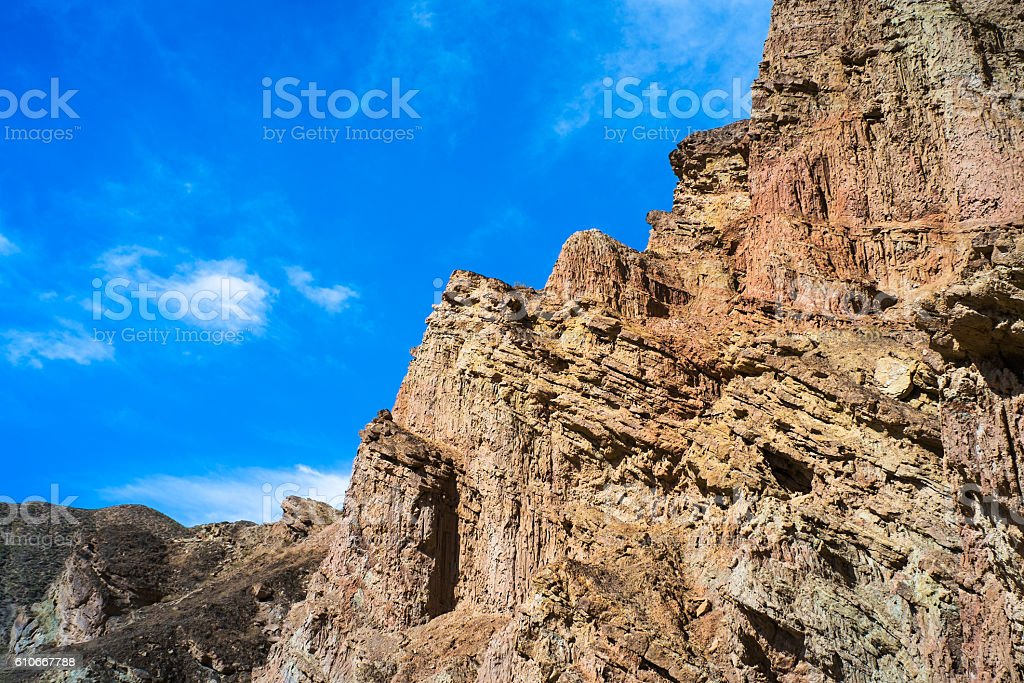 Mountains in Central Asia stock photo